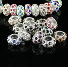 Wholesale 6X11mm Crystal European Big Hole Spacer Loose Beads For Charm Bracelet