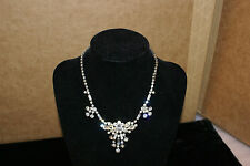 Vintage Signed Sherman Clear Rhinestone Necklace Elegant Jewelry