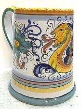 Deruta Pottery-Big Cup,Coffee/Beer Raffaellesco Made/Painted by hand Italy