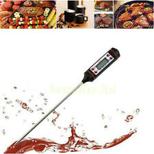 Digital LCD Stainless Steel Deep Fry Candy Chocolate Kitchen Cooking Thermometer