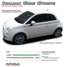 Body Line Thin Red Green Italian Stripe Vinyl Graphic Decal 2011-2015 Fiat 500