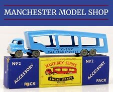 Matchbox Lesney Accessory pack 2-A Bedford S car transporter LARGE LETTERS BOXED