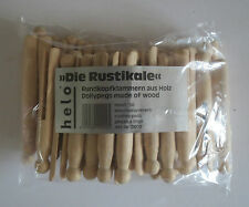 100 St Mollette da bucato Staffe tempesta Testa rotonda Grafette di legno