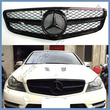 12-15 For M-BENZ C204 Coupe C200 C250 C350 Shiny Black C63 Type Front Grille
