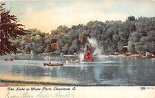 Ohio postcard Cleveland, The Lake In Wade Park, ca 1908