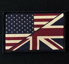 USA/UK AMERICAN/UNION FLAG UKSF SEAL COLOR VELCRO® BRAND FASTENER PATCH