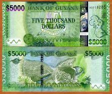 Guyana, 5000 dollars, ND (2013), P-New, UNC   Highest denomination