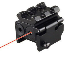 Táctica Láser Rojo Dot Sight Desmontable Riel Picatinny De 20mm Para Pistola Arma Rifle