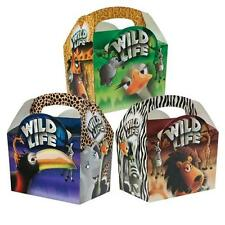 24 Bambini Bimbi Safari Animale Porta Cibo Festa Di Compleanno Borsa