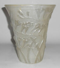 Phoenix Consolidated Art Glass Frosted Freesia Vase