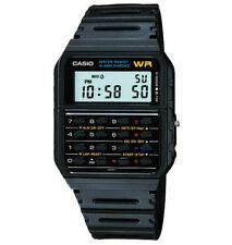 Casio 8-Digit Calculator Watch, Resin Strap, Alarm, Chronograph, CA53W-1