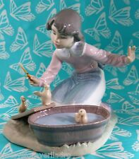 Lladro # 5959 ~ IT'S YOUR TURN ~ Girl W/Chicks in Washtub   BUY 1 GET 1 50% OFF