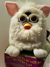 Furby Interactive Toy Original 1998 White With Pink Ears