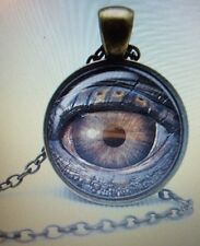 Retro Evil Eye Gem Time Pendant Necklace Men's Women's Necklace Neck Steampunk C