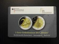"""2 euro Sonder Gedenk Münze Deutschland """"Hessen"""" 2015 """"A"""" VfS CoinCard der WMF"""