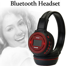 Wireless Bluetooth Headphone Music Stereo Headset With Call Mic Support FM SD UK