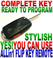 ALin1 FLIP KEY REMOTE FOR 01-05 PT CRUISER CHIP KEYLESS ENTRY TRANSPONDER FOB W