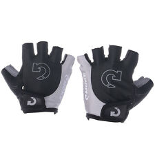 XL Riding Cycling Bicycle Motorcycle Racing Gray Sport Gloves Half Finger Gloves