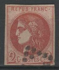 "FRANCE STAMP TIMBRE 40 Ba "" BORDEAUX 2c ROUGE BRIQUE "" OBLITERE TB SIGNE  N799"