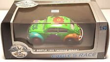 EAGLE'S RACE VW BEETLE 1303 ''FLOWER POWER'' GREEN 1:43 SCALE NIB