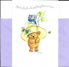 Mary Hamilton Happy Birthday Daughter-In-Law Brown Bear In Big Hat By Hallmark