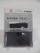 WS -- Rechargeable Battery Set and Charger -- Box. WonderSwan, JAPAN Game Sammy.