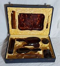 Beautiful 10 Piece Vintage Art Deco Vanity Set (Boxed)