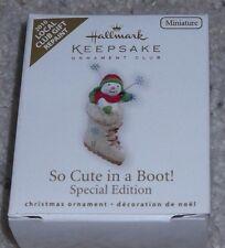 2010 Hallmark Keepsake Local Club SO CUTE IN A BOOT Repaint Miniature Ornament
