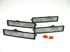 Depo 84-91 BMW E30 3 Series Clear Front + Rear Bumper Side Marker Lights 4 Piece