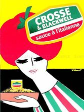 ADVERTISING FOOD SAUCE ITALIAN TOMATO WOMAN BOWL PASTA FLAG COLOURS POSTER LV895