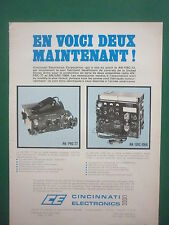 3/1974 PUB CINCINNATI ELECTRONICS AN / PRC-77 AN / GRC-106A US ARMY FRENCH AD