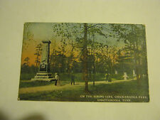 On The Firing Line, Chattanooga, Tenn. 1930's Post Card (GS19-42)