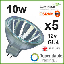 5 x BRANDED MR11 10w Halogen Spotlight / Lamp 12v - GU4 - 35mm - Light Bulb