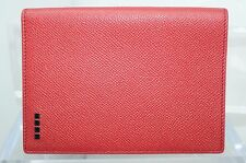 Tod's Men's Red Passport Holder Wallet Credit Card Case Bi-Fold Leather CC NWT