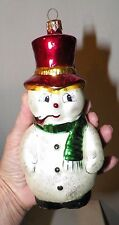 CHRISTOPHER RADKO CHRISTAMS ORNAMENT SNOWMAN 6 1/2""