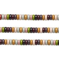 Wood Rondelle Beads Earth Tones 8x4mm 16 Inch Strand