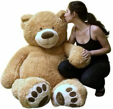Big Plush Giant Teddy Bear Five Feet Tall Tan Color Soft Smiling Big 5 Foot Bear