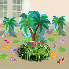 23 Piece Tropical Hawaiian Luau Palm Tree Summer BBQ Party Table Decorating Kit