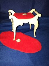 Vintage Barbie Suzy Susy Goose Furniture Excellent Vanity Stool & Rug