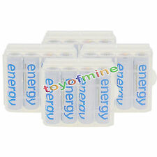 16x AA 3300mAh Ni-Mh Energy Rechargeable Battery White Cell for MP3 RC +4x Case