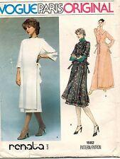 VTG VOGUE Paris Original Misses' Dress Renata  Pattern 1582 10 UNC