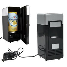 Mini USB Fridge Cooler Beverage Drink Cans Cooler/Warmer Refrigerator Laptop PC