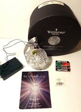*NEW* Waterford Crystal TIMES SQUARE (2009) Let There Be Joy Ball w/ LED Light