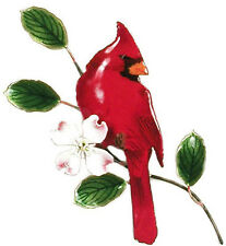 Cardinal Metal Bird Wall Art Decor Sculpture by Bovano of Cheshire #W4112