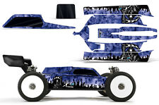 AMR Racing Losi 8IGHT-E 3.0 RC Graphic Kit Decal Wrap 1/8 Buggy Body REAPER BLUE