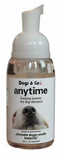 'Anytime'Dry Dog Shampoo. Rids smells totally including FOX & BADGER. No Rinse.
