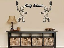 Personalised Tennis Player Any Name Vinyl Wall Sticker Art Decal Kids Bedroom