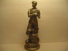 VINTAGE YOUNG BLACKSMITH W/ APRON FIGURE & TOOLS, ANVIL, MALL AND HAMMER, EXC!