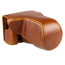 New Brown PU Leather Camera Case Cover Bag Pouch for Canon EOS-M3 with Strap
