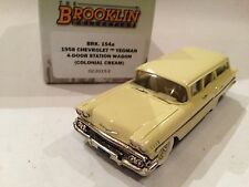 1/43 BROOKLIN 154A CHEVROLET YEOMAN 4 DOOR STATION WAGON 1958 COLONIAL CREAM
